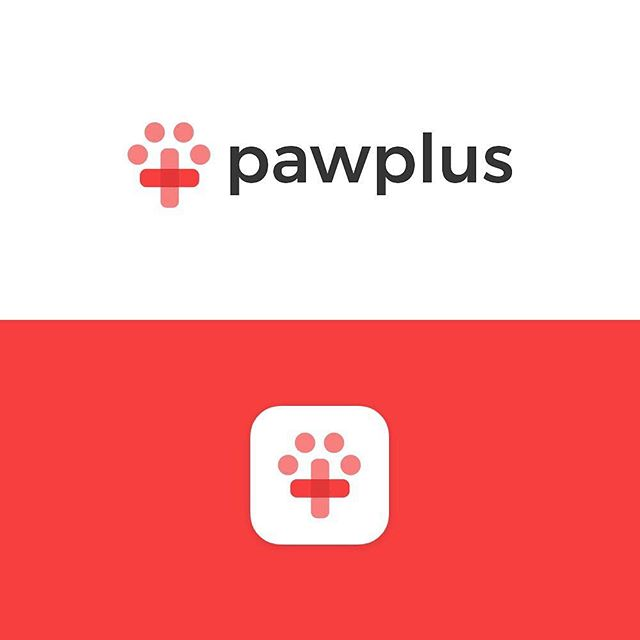 Pawplus logo design 🐶 - Had a ton of fun designing this mark for a dog care company. I incorporated both a paw and plus symbol representing health/care and finished with this minimal mark. - What do you guys think?🤔