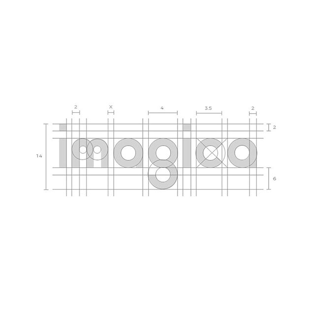 Imagica logotype construction construction📐 - I would love to hear what you guys think!👌🏼 - Need a logo? Visit my website www.tadhgsheerin.com or shoot me a DM.