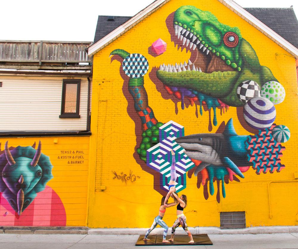 AcroTO in Graffiti Alley