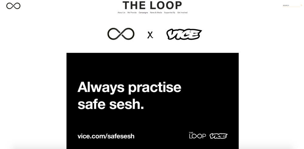 The Loop announced their Vice UK partnership through their new website.