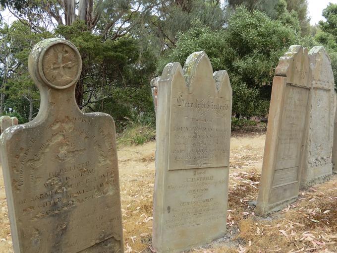 port arthur isle of dead gravestones
