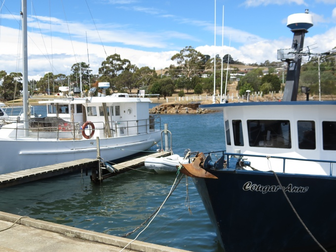 triabunna_fishing boats and dinghy