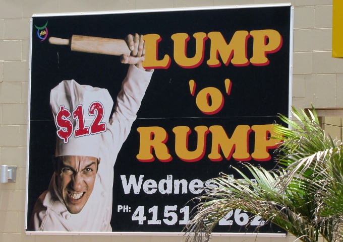 billboards_lump o rump bundaberg australia