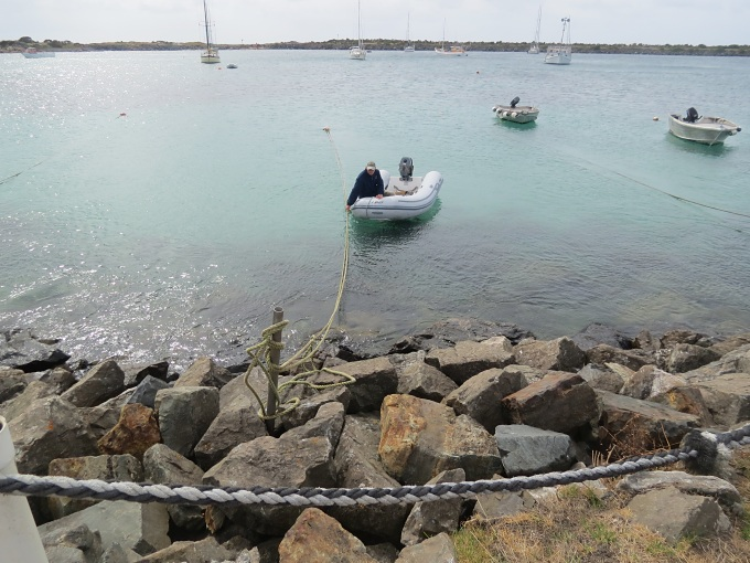 king island recouping dinghy