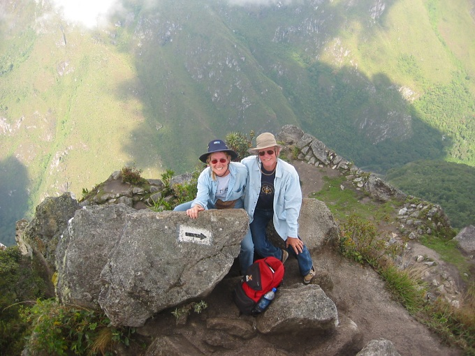 machu picchu - marcie and david atop Huayna Picchu