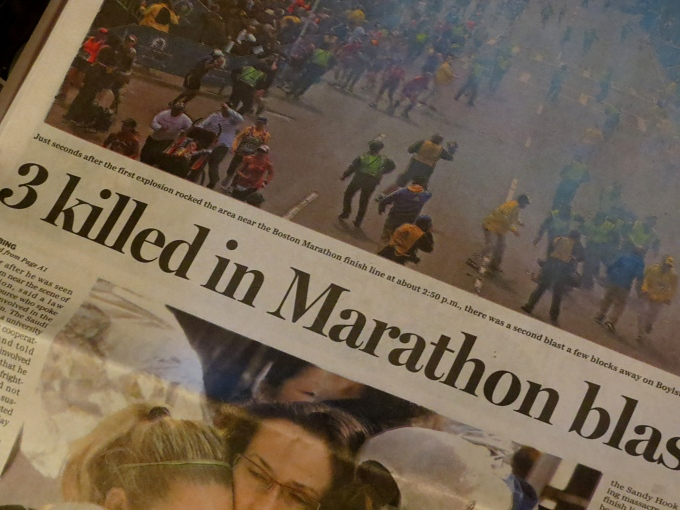 newspaper boston marathon