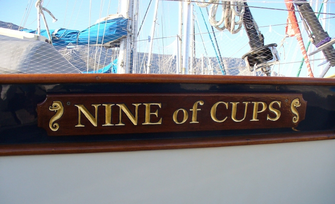 Nine of Cups nameboard