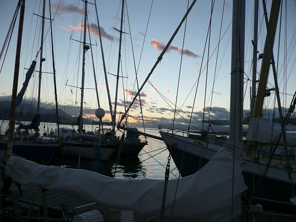 marina at dawn in ushuaia