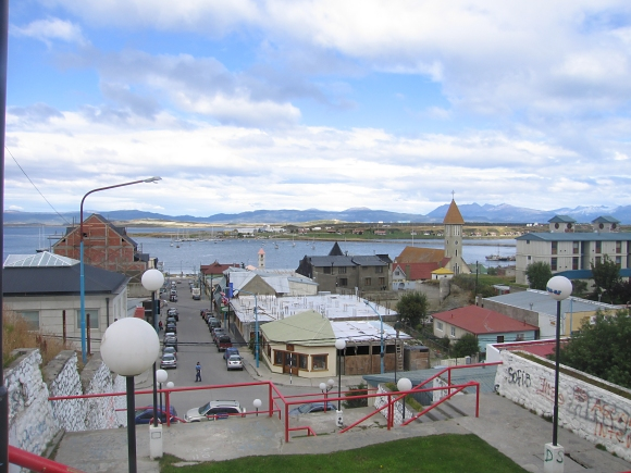 hilltop view of ushuaia