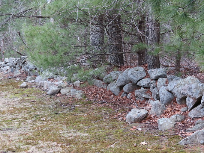 crumbling stone wall