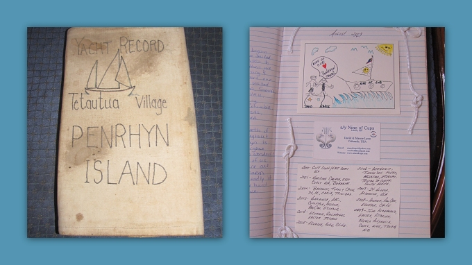 cook island visitor's book