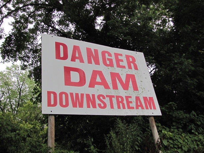 danger dam downstream