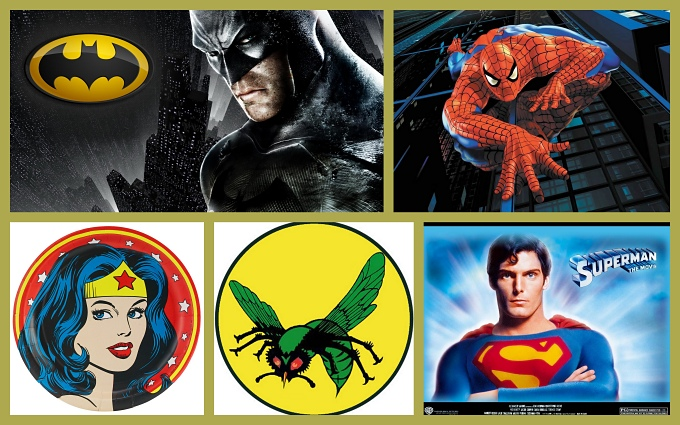 superheroes collage