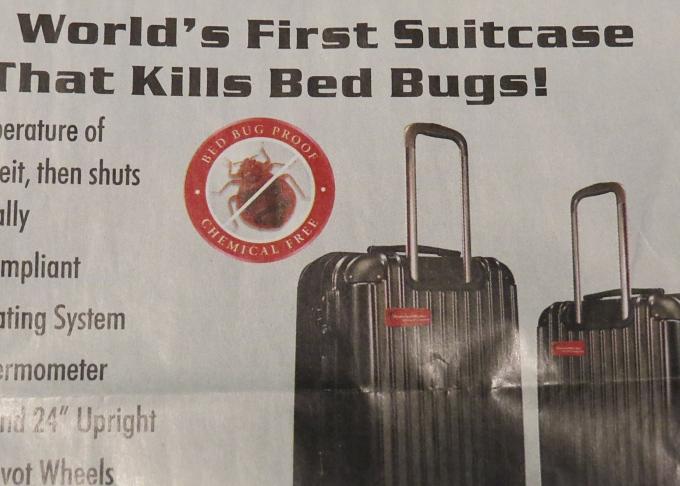 bedbug killing luggage