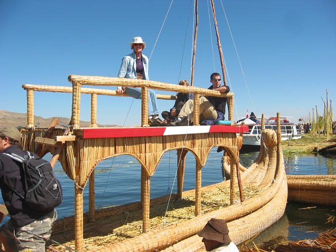 reed boat - lake titicaca