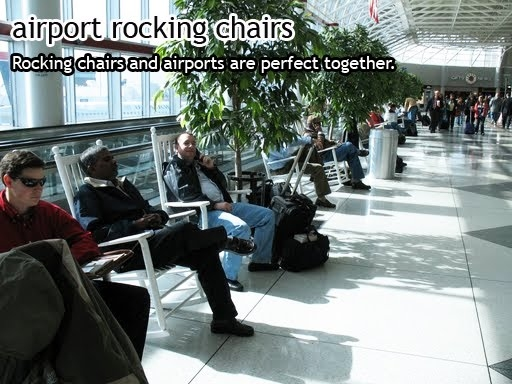 charlotte airport rocking chairs