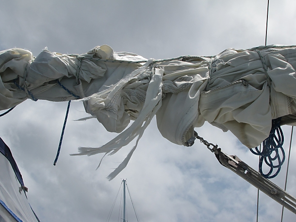 tattered sail