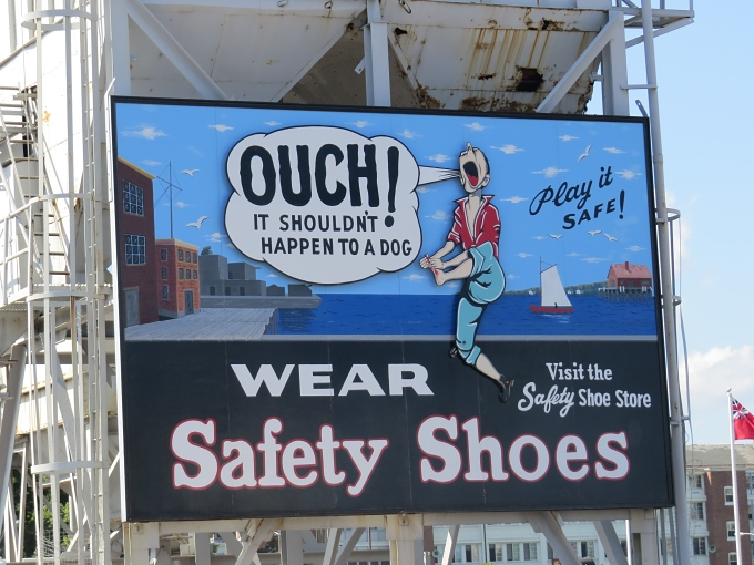 ouch! wear safety shoes