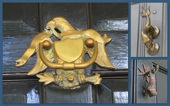 nautical and patriotic doorknockers