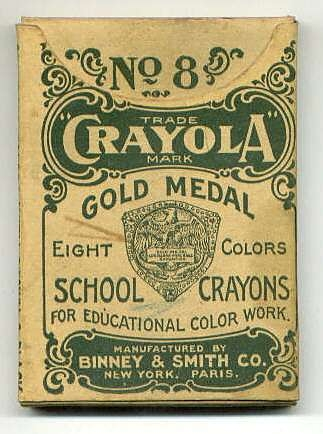 historical crayola package