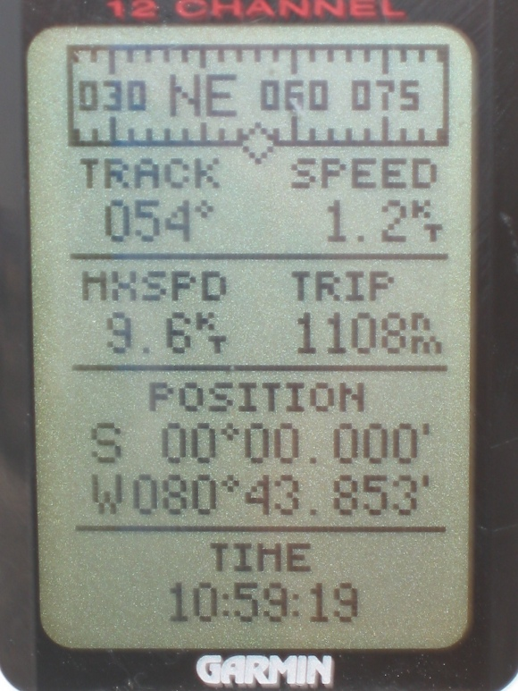 gps at the equator