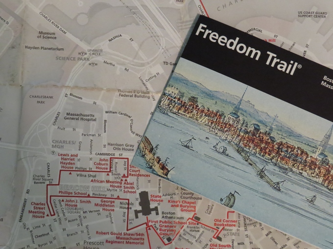 freedom trail map and pamphlet