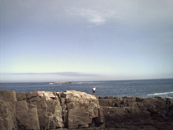 sandy beach and cliffs