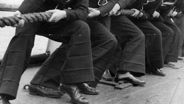 navy bell bottoms