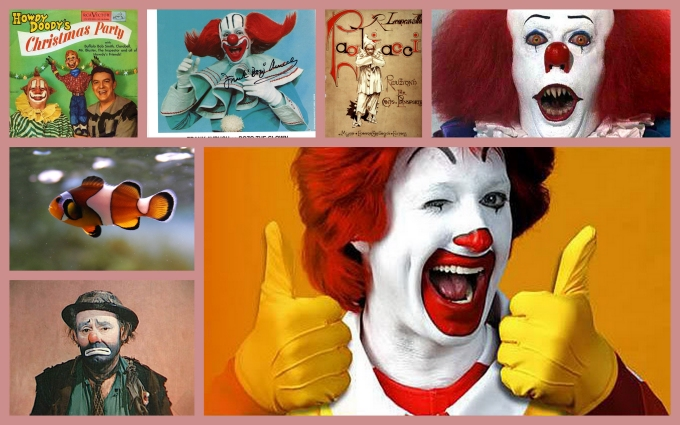 clowns collage