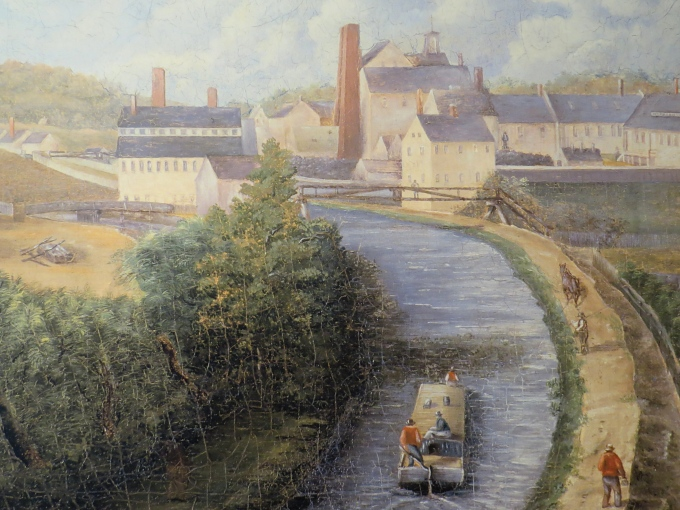 painting of blackstone canal