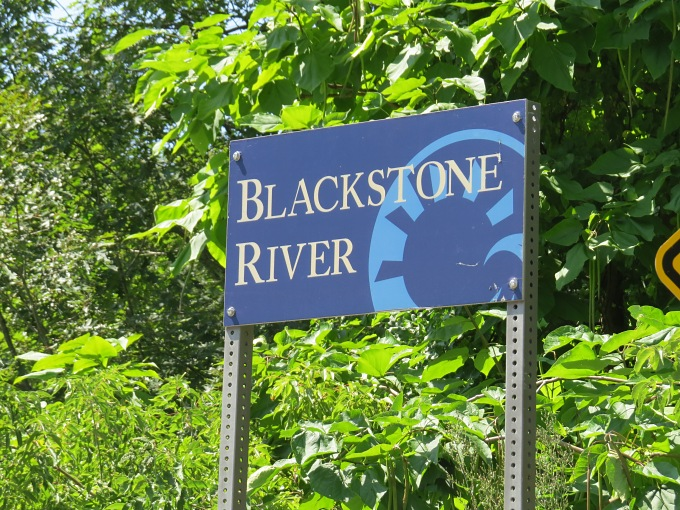 blackstone river sign