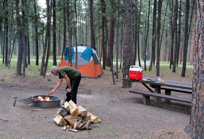 camping in the black hills, south dakota