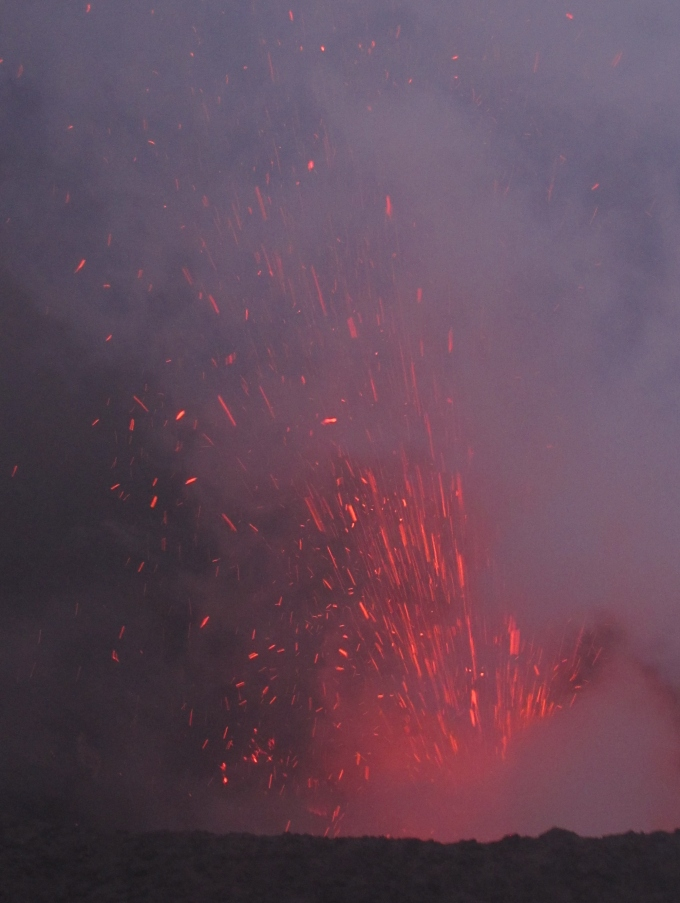 fireworks at mt. yasur