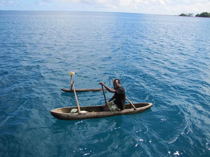 dugout canoe in vanuatu