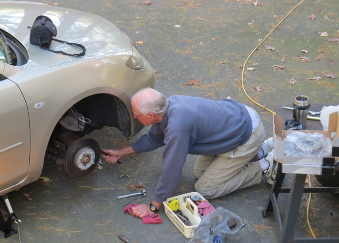 fixing the brakes