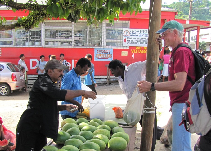 buying melons in fiji