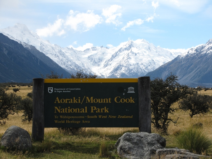 aoraki national park mount cook