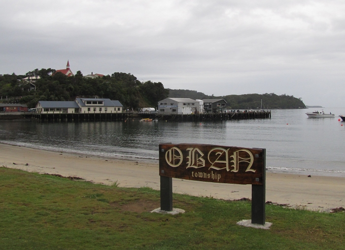 oban town sign