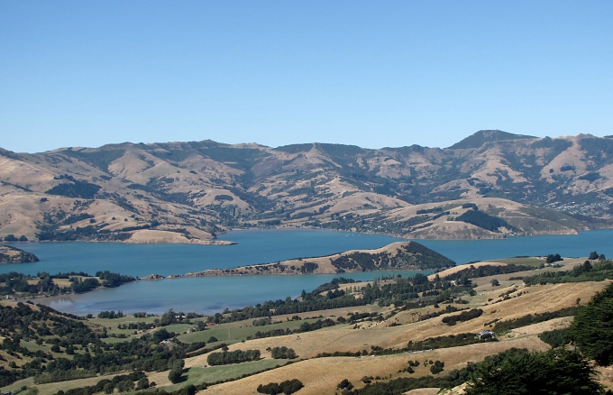 banks peninsula view