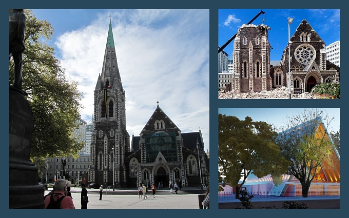 christchurch cathredral in cardboard