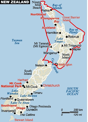 New Zealand Tourist Map North Island.New Zealand S North Island Pt 1 Just A Little Further