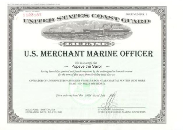 coast guard license