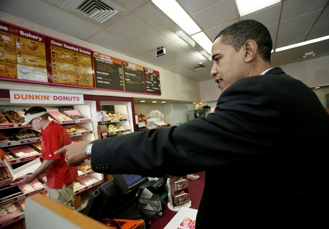obama at dunkies