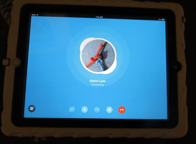 skype on the ipad
