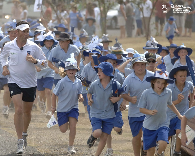australian schoolkids in hat