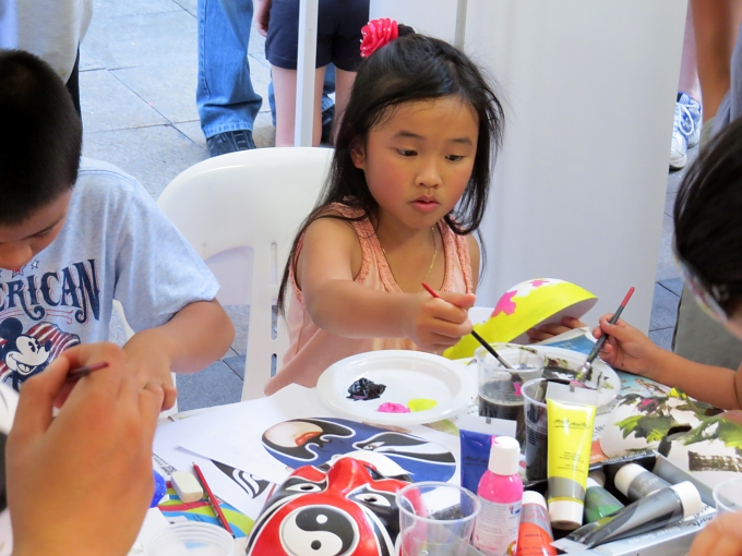 kids painting masks