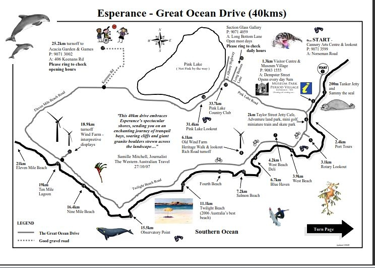 great ocean drive map