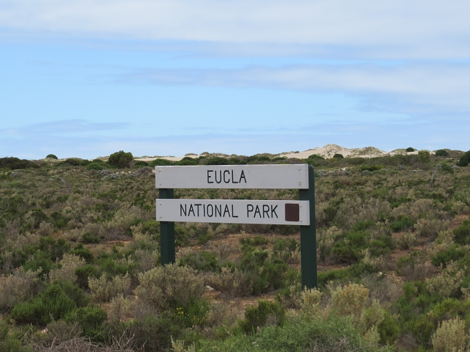 eucla national park sign