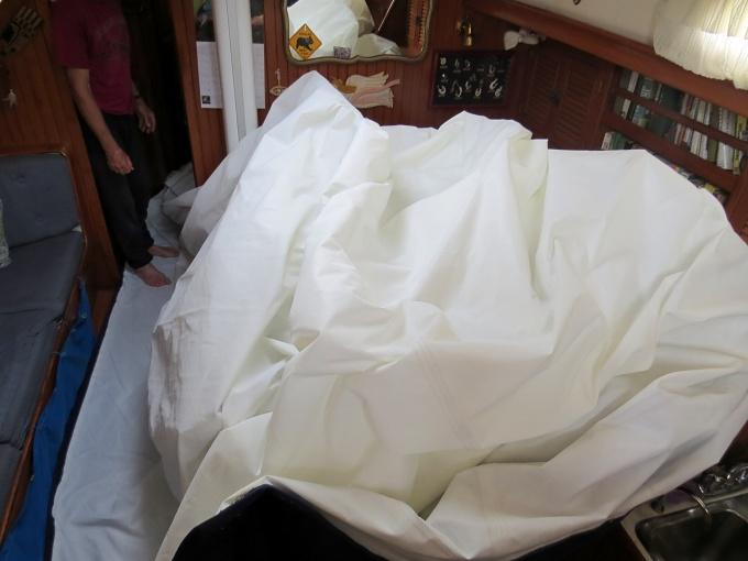 folding the jib