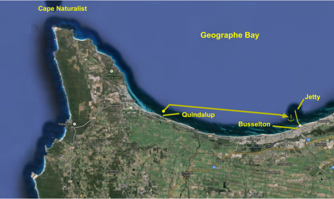 quindalup to busselton